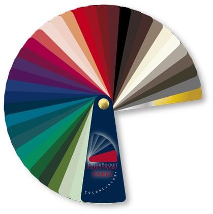 Kleurenwaaiers kunststof