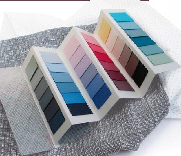 kleurenwaaier zomer stof folder model